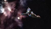 Mebius flying in space
