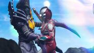 Zetton Falx VS Ultraman Ribut