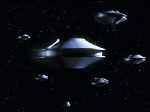 Mysterious Saucer fleet