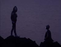 Ultraman introduces himself to Eiji Tsuburaya
