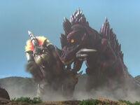 King Bamos vs. Rock Eater