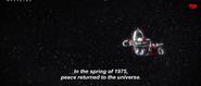 Ultraman flying in space