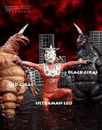 Red Giras and Black Giras v Ultraman Leo