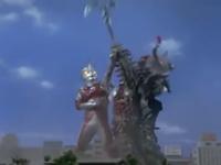 Ace dislodging Barabas's ax