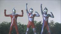 Seven, Ultraman, Tiga in Ginga
