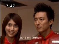 Mizuki ''angry'' when Pigmon (Elly) hugs Kaito