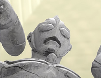 Tiga's statue