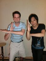 Takeshi in Photon Stream's stance
