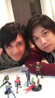 Hassei with Takeshi & his collections