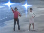 Takeshi & Ryoko turning back to their Ultra form