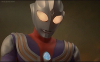 Tiga Blast becomes Ultraman Tiga