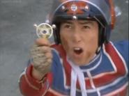 Kotaro uses Ultra Badge