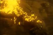 T-rex burning