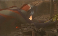 Daigo (Tiga) unconcious