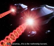 Mysterious Saucer fleet Energy Ring Blast