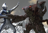 Reigubas vs Ultraman Dyna