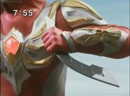 Max holds Maxium Sword