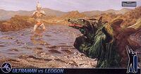 Ultraman Jack vs Leogon