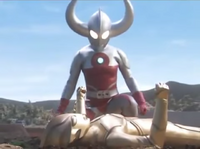 Father of Ultra with Golden Mebius