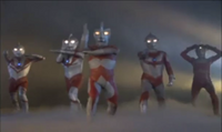 Ultra Brothers in their beam stance