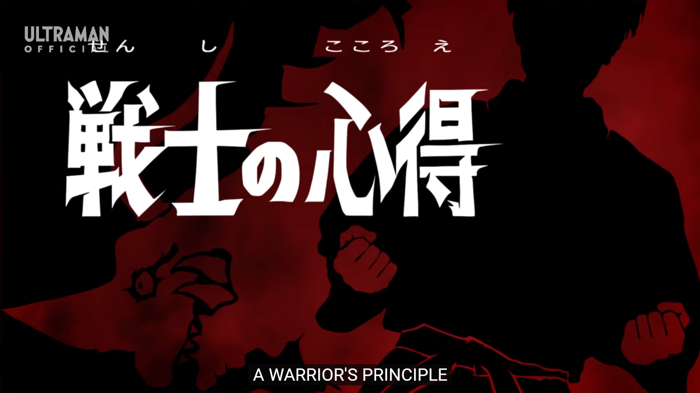 A Warrior's Principle