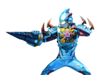 Ultraman X Denpagon Armor render up