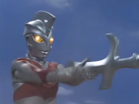 Ace holding Barabas's sword