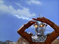 Seven's powers were weaker (as Emerium Beam)