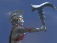 Ace holding Barabas's ax