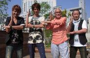 Shunji, Takuya, Susume and Kohji in their kousen stance