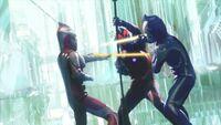 Hikari and Mebius vs Belial