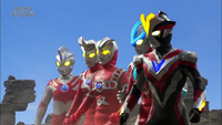 Victory with Ginga, Leo, Astra and Ace