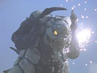 Clone Silvergon getting shot in the eye