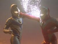 Imitation Ultraman Dyna punch with Dyna