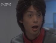 Mirai surprising at the Marquette Ultraman Mebius