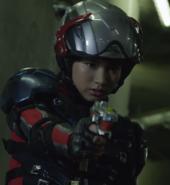 Asuna with gun