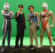 Agul with Gaia and Hassei with Takeshi