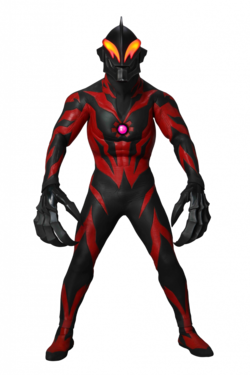 Ultraman Belial in his Reionics form