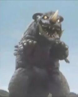 Neronga in Ultra Galaxy Mega Monster Battle