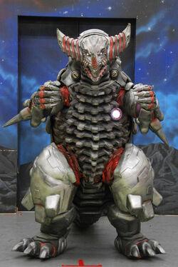 Mecha Gomora in a promotional photo for Ultra Galaxy Legends Side Story: Ultraman Zero vs. Darklops Zero