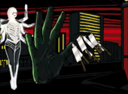 Kami materializes ghost hand