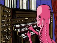 Mischief plays the organ