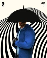 S2 Luther Hargreeves with Umbrella poster