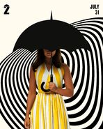 S2 Allison Hargreeves with Umbrella poster