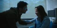 Vanya and Leonard prepare to leave the hospital.