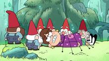"""""""Os gnomos têm Mabel amarrada ao solo da floresta."""""""