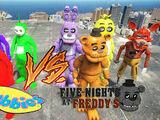 Freddy Fazbear vs. Teletubbies