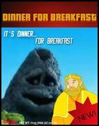 Dinner for breakfast