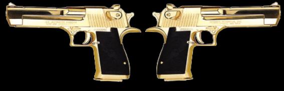 Dual Wield Golden Pistols
