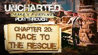 Uncharted Drake's Fortune (PS3) - Chapter 20 Race to the Rescue - Playthrough Gameplay